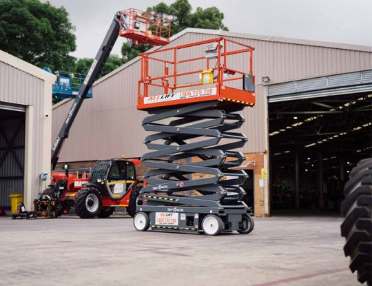 Can a scissor lift fall over?